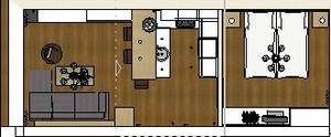 Ferienwohnung Norderney Gundriss Wohnung 2 Untergeschoss