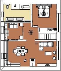Grundriss Penthouse  Ferienwohnung Norderney 5